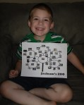 Jackson and his new zoo map!