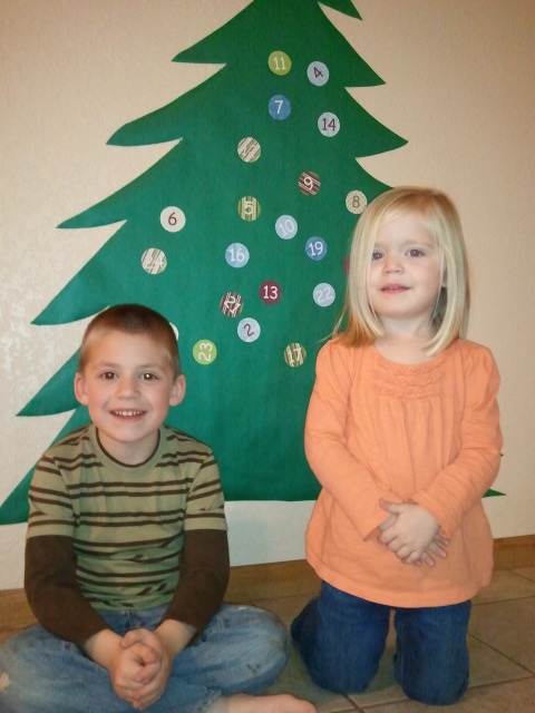 Our Christmas Countdown Advent Tree