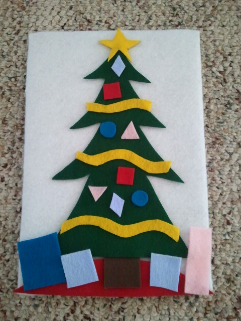 Felt board Christmas tree