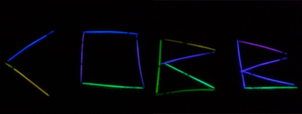 Spelling is fun with glow sticks!