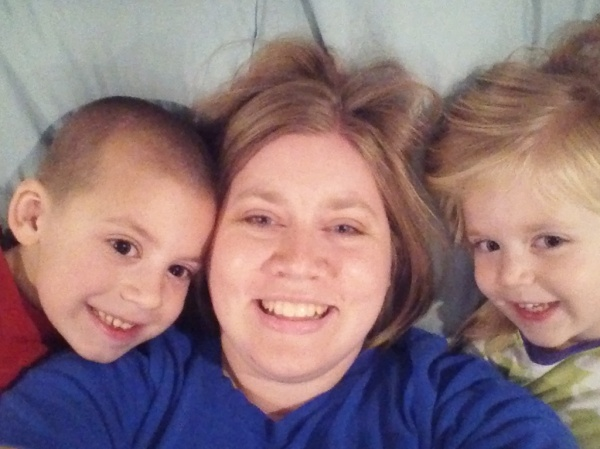 Snuggle time with the kiddos