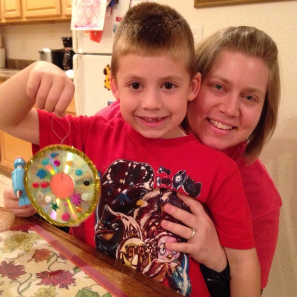 Jackson and me after making his ornament