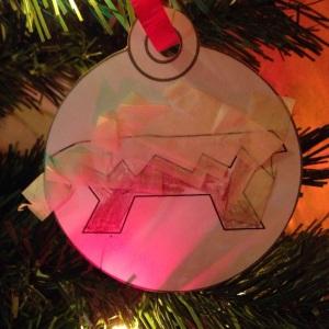 Manger ornament