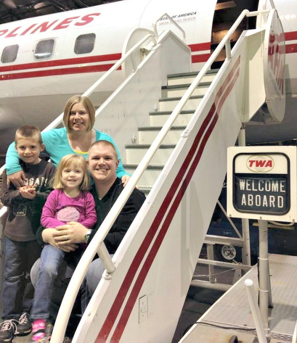 We spent the beginning of 2014 with our family. Here we toured the Airline History Museum in Kansas City.