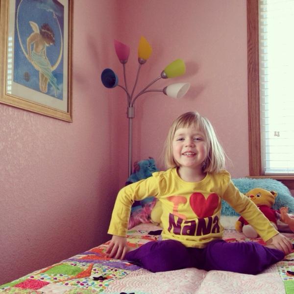 Before naps and bedtime, Lauren prays.