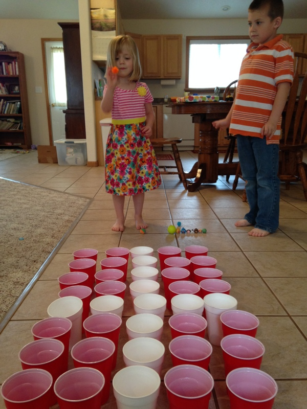 Cross Cup Toss