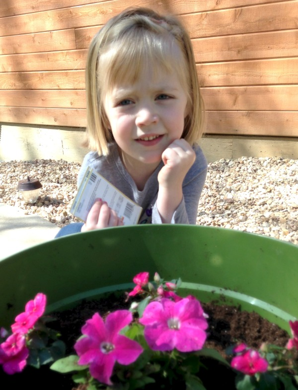 Lauren choose all pink flowers to plant