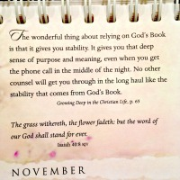 Thankful: God's word will stand forever