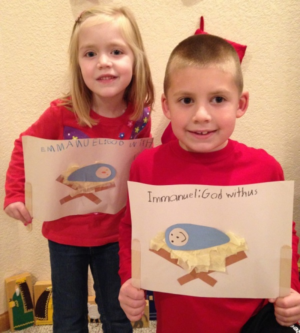 Lauren and Jackson made scrolls depicting the prophecy God gave to Isaiah.