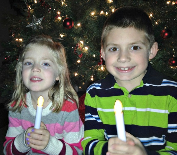 Lauren and Jackson at our church's candelight Christmas Eve service