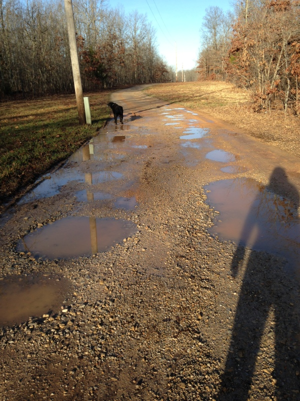 Navigating through the mud puddles isn't always an easy task.