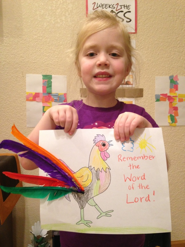 Lauren and her rooster picture