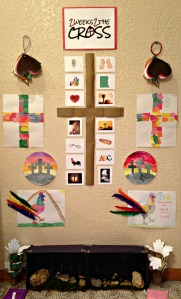 Our 2 Weeks 2 the Cross Easter wall
