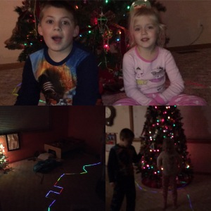 A few captured moments from our glowstick Nativity adventures